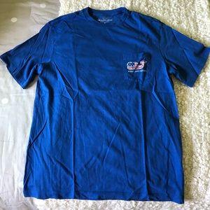 Vineyard vines America flag whale T-shirt